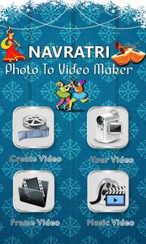 Navratri Garba Video Maker poster
