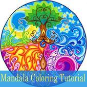 Mandala Coloring Steps Tutorial Videos icon