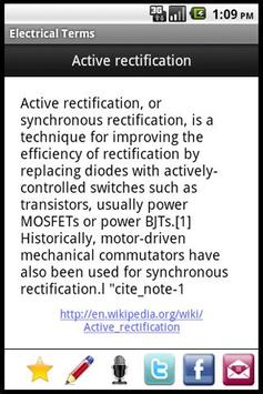 Electrical Terms apk screenshot