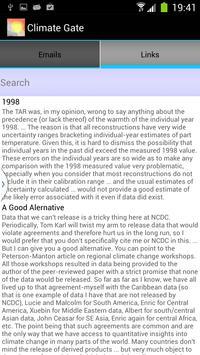 Climategate screenshot 1