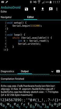 ArduinoDroid capture d'écran 2