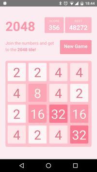 Pinky 2048 apk screenshot