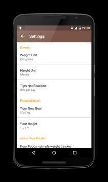 Four Poods - a weight control apk screenshot
