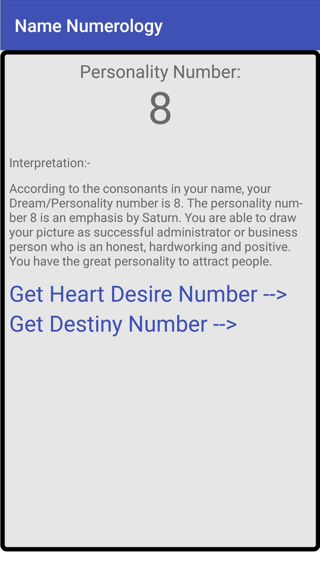 Name Numerology for Android - APK Download