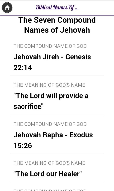 God Biblical/Christian Names for Android - APK Download