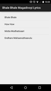 Bhale Bhale Magadivoyi Lyrics screenshot 1