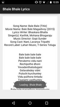 Bhale Bhale Magadivoyi Lyrics screenshot 4