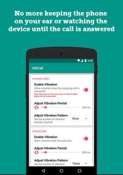 VibCall - Vibrate on answer poster