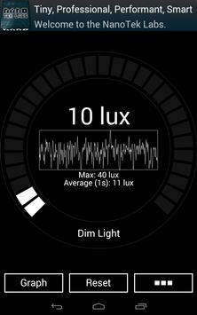 Nano Light Meter apk screenshot
