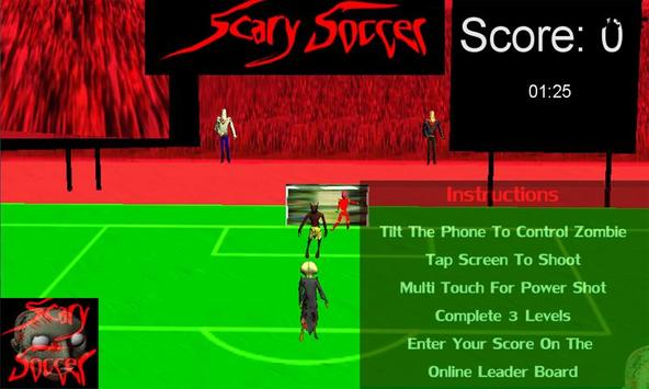 Zombies Scary Soccer Football apk screenshot