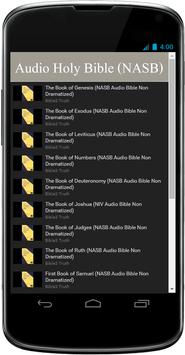 NASB Audio Bible Free App poster