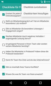 Checkliste für Führungskräfte screenshot 1
