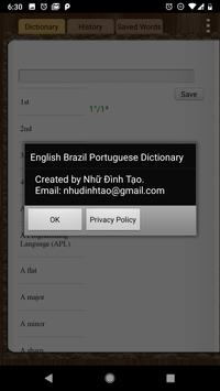 English Brazil Dictionary screenshot 5