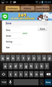 English Brazil Dictionary apk screenshot
