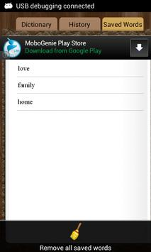 English Czech Dictionary apk screenshot