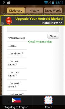 English Tagalog Dictionary screenshot 1