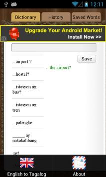 English Tagalog Dictionary screenshot 2