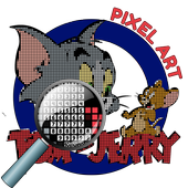 Color by Number Tom and Jerry Pixel Art icon