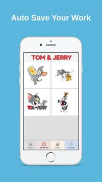 Color by Number Tom and Jerry Pixel Art screenshot 2