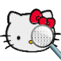 Pixel Art Hello Kitty : Color by Number