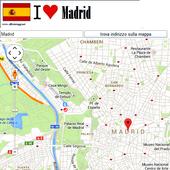 Madrid map icon