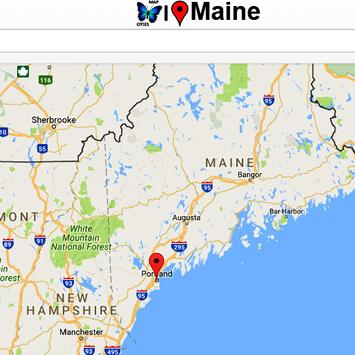 Maine Map poster