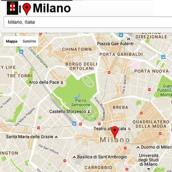 Milano Simply Map poster
