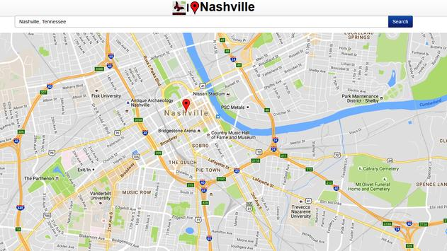 Nashville Map screenshot 1