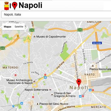 Napoli Simply Map poster