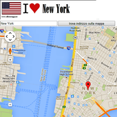 New York City map icon