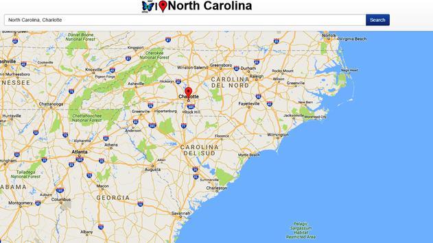 North Carolina Map apk screenshot