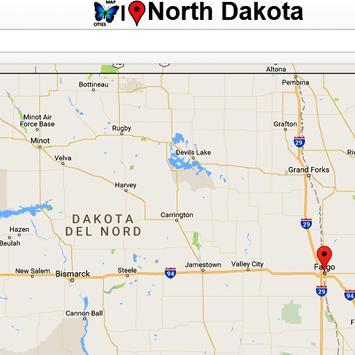 North Dakota Map poster