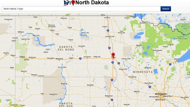 North Dakota Map screenshot 1