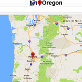 Oregon Map icon
