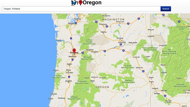 Oregon Map apk screenshot