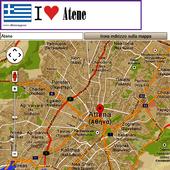 Athens map icon
