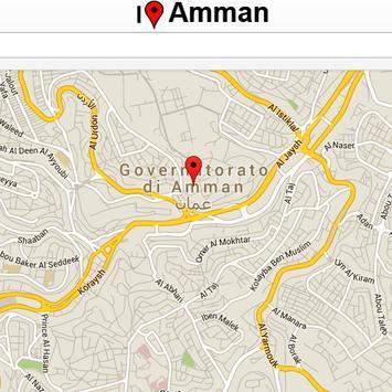 Amman Map poster