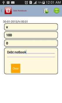 Debt Notebook screenshot 1