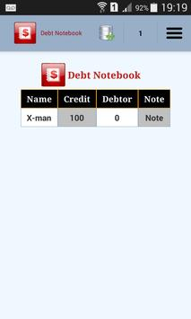 Debt Notebook screenshot 2