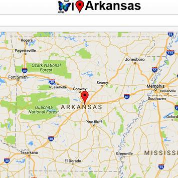 Arkansas Map poster