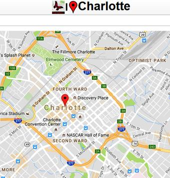 Charlotte Map poster