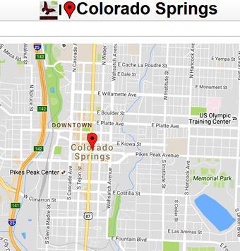 Colorado Spring Map poster