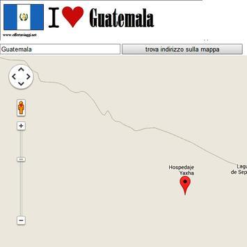 Guatemala City map poster