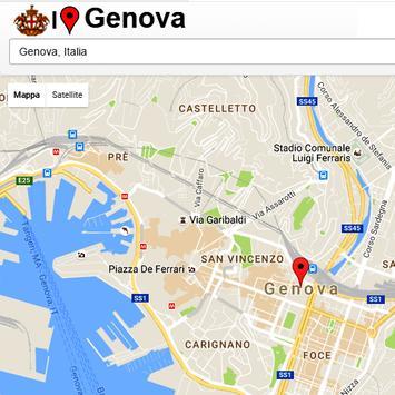 Genova Simply Map poster
