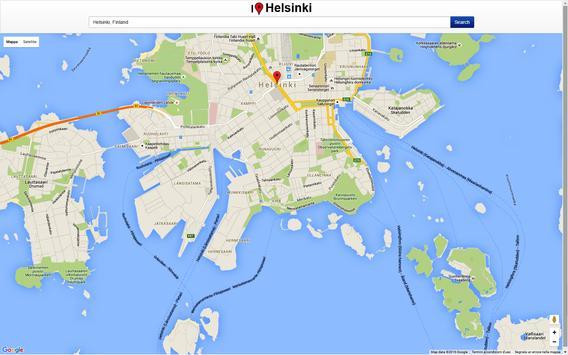 Helsinki Map screenshot 2
