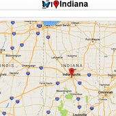 Indiana Map icon