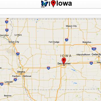 Iowa Map poster