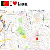 Lisbon map icon
