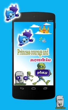 Princess courage and zombie poster