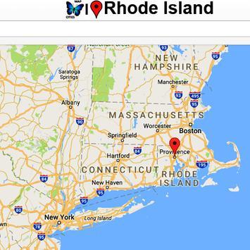 Rhode Island Map poster